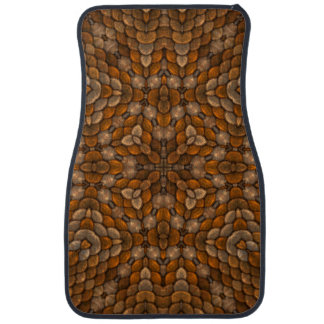 Rustic Scales Vintage Brown  Car Mats Front