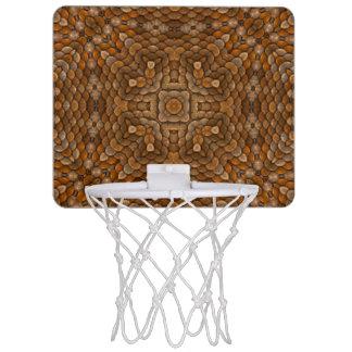 Rustic Scales Vintage Kaleidoscope Basketball Hoop