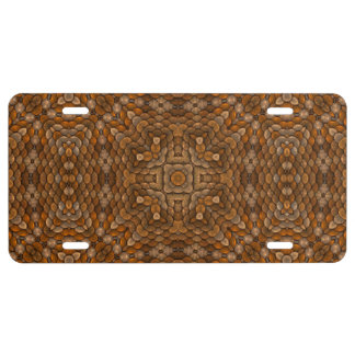 Rustic Scales Vintage Kaleidoscope  License Plates