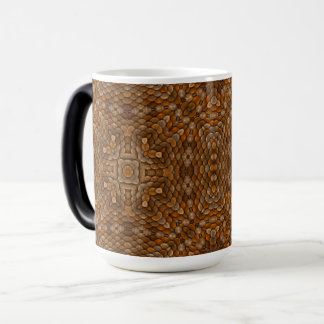 Rustic Scales Vintage Kaleidoscope Morphing Mug