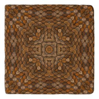 Rustic Scales  Vintage Kaleidoscope Stone Trivet