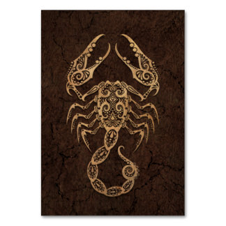 Rustic Scorpio Zodiac Sign on Stone Effect Card