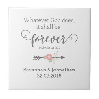 Rustic Scripture Christian Art Wedding Gift Tile