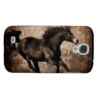 Rustic Sepia Galloping Horse