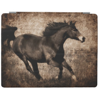 Rustic Sepia Galloping Horse iPad Cover