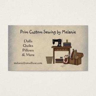 Rustic Sewing Arts Business Card