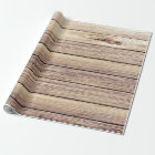 Rustic Shabby Chic Birch Wood Wrapping Paper