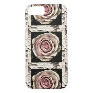 Rustic Shabby Chic Close Up Pink Rose Cell Case