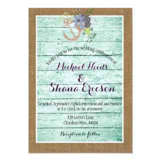 Rustic / Shabby Chic/ Nautical/ Wedding Invitation