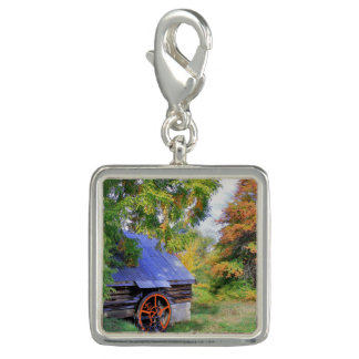 Rustic Shed Landscape Photo Charm
