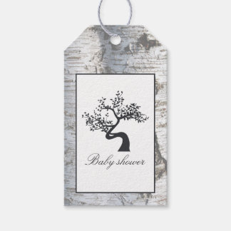 Rustic Silver Birch Tree Baby Shower Pack Of Gift Tags