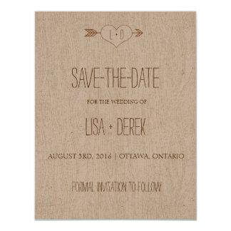 Rustic Simple Woodgrain Save the Date Card
