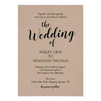 Rustic Simplicity Wedding Invitation