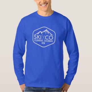 Rustic Ski Mountain Steamboat Springs Colorado T-Shirt