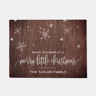 Rustic Snowflake Christmas Doormat