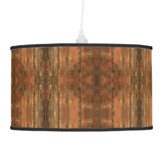Rustic Southwest Brown Patterned Lamp