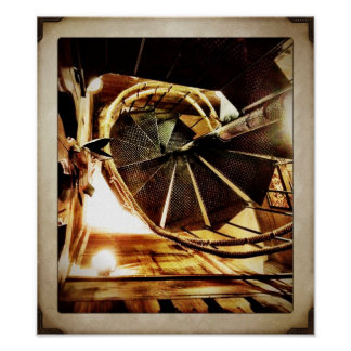 Rustic Spiral Staircase Poster Print