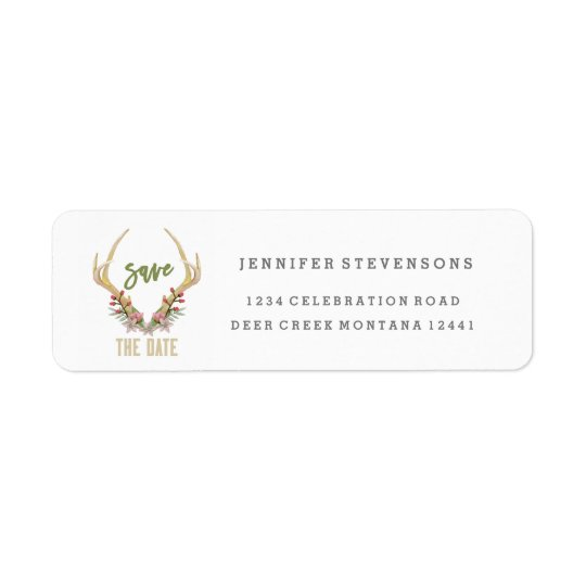 RUSTIC SPRING FLOWER | ADDRESS LABELS