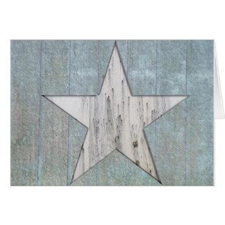 Rustic Star Greeting Card