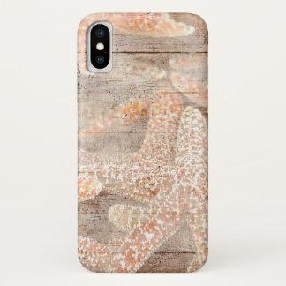 Rustic Starfish Brown iPhone X Case