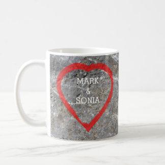 Rustic Stone Garden Wedding Heart Coffee Mug
