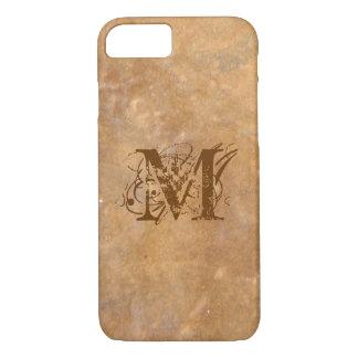 Rustic Stone Initial Look iPhone 7 Case
