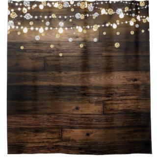 Rustic & String Lights Silver Gold Confetti