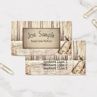 rustic style business card template wood pattern