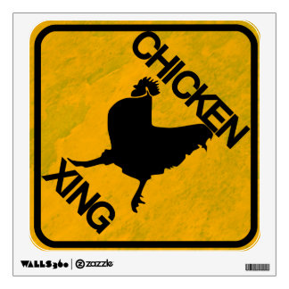 Rustic Style Chicken Crossing Wall Decal