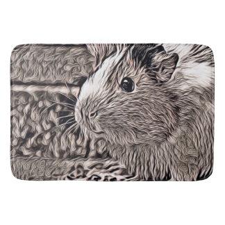 rustic style -guinea pig bath mat