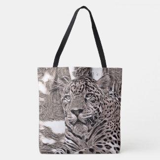 rustic style - jaguar tote bag