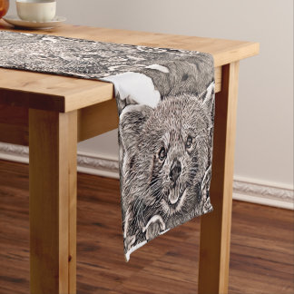 Rustic Style - Red Panda 2 Medium Table Runner
