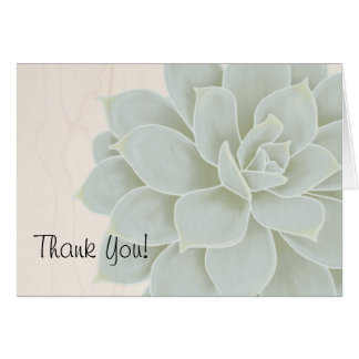 Rustic Succulent Thank You Card