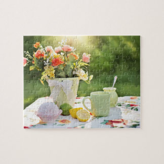 Rustic Summer Tea Party Jigsaw Puzzle