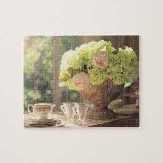 Rustic Summer Tea Party Still Life Jigsaw Puzzle