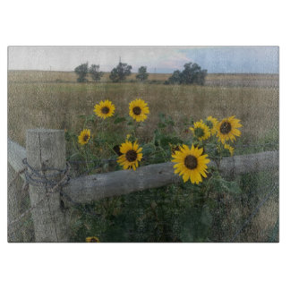 Rustic Sunflower Country cutting board