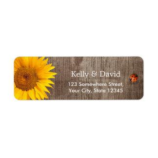 Rustic Sunflower Cute Ladybug Barn Wood Wedding