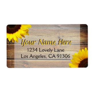Rustic Sunflower Labels