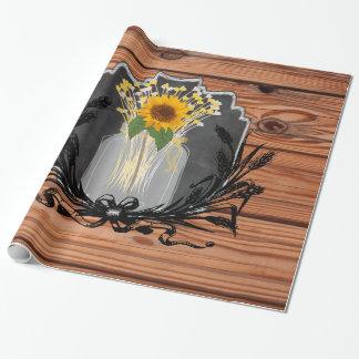 Rustic Sunflower Mason Jar