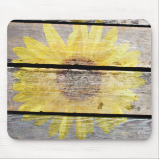 Rustic Sunflower Mouse Pad