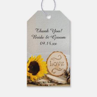 Rustic Sunflower Woodland Wedding Favor Tags