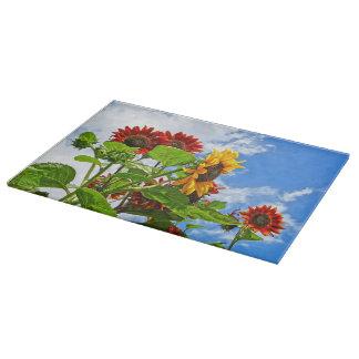 Rustic Sunflowers Cutting Board Western