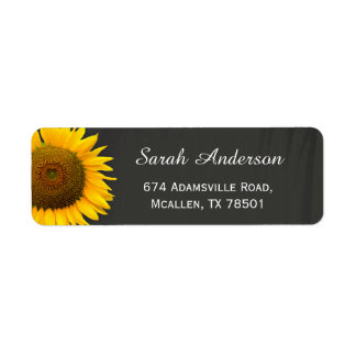 Rustic Sunflowers Elegant Chalkboard RSVP Reply