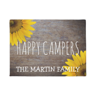 Rustic Sunflowers Weathered Wood | Happy Campers Doormat