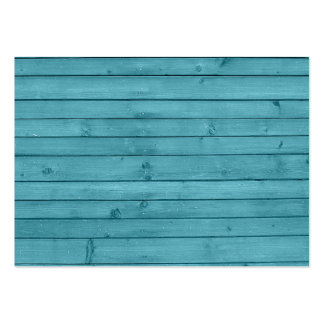 Rustic Teal Wood Large Business Card