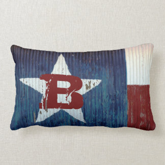 Rustic Texas Flag Travel Personalized Pillow