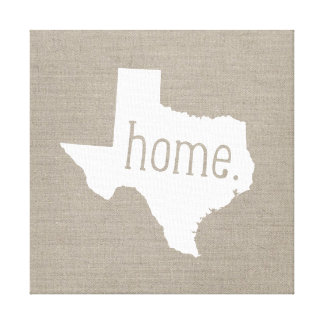 Rustic Texas Home State Wrapped Canvas Art Print Stretched Canvas Prints