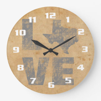 Rustic Texas Large Clock
