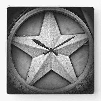 Rustic Texas Lonestar Clock