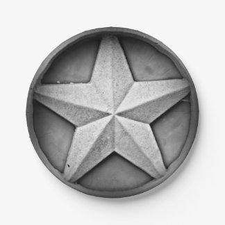 Rustic Texas Lonestar Paper Plate